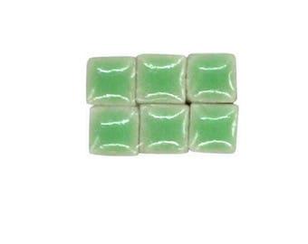 1 oz - 5 mm size Avocado Green Ceramic Mosaic Tiles - approximately 190 - 200 tiles