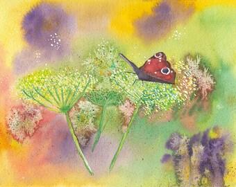 """Handmade art card """"Butterfly"""""""
