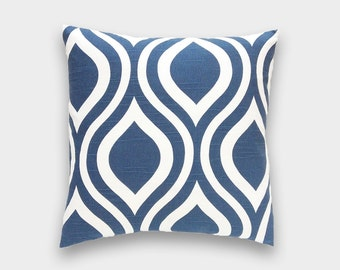 CLEARANCE 50% OFF Navy Blue Throw Pillow Cover. Premier Navy Emily Decorative Pillow