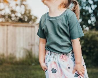 Watercolor Floral Skirt - Toddler Skirt - Girls Floral Skirt - Girls Clothes - Fall Floral Skirt - Capsule Wardrobe - Boho Skirt - Baby Gift