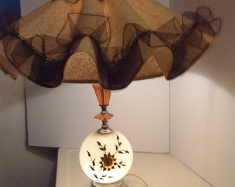 Pair of 1950's Glass Granny Lamps
