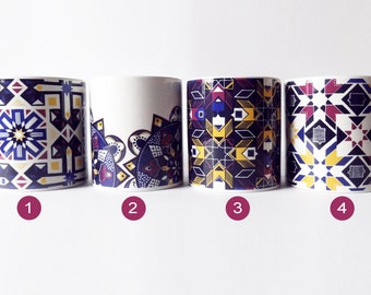 Mosaic Islamic Patterned Mug / Morocco Gift / Gift For Tea Lover / Coffee Lover / Geometric Print / Moroccan Design / Moroccan Style / Decor