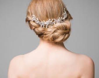 Bridal hair vine  - bridal headpiece - Wedding hairpiece - Bridal hair accessory - Silver or gold - 1920s dress - 1920s wedding dress