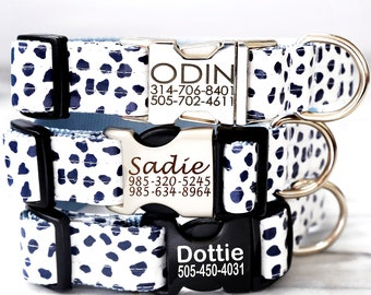 Lazer Etched Personalized Laminated Cotton Dog Collar 13