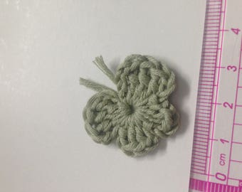 4 soft Green Butterfly crochet