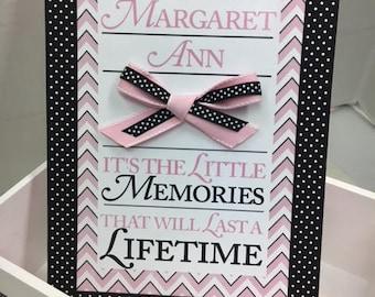Pink and Black Lifetime Memories Keepsake Box