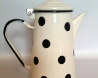 Vintage Polka-dot Enamel Ware Coffee Pot