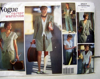 Vogue 2637 Sewing Pattern Career Wardrobe Size 6-8-10  Bust 30 - 32 Complete Uncut FF