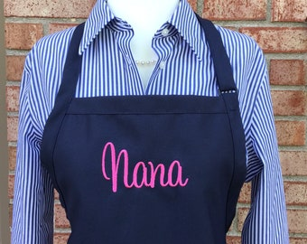 Monogram Apron with Name - Personalized Name Aprons - Personalized Apron - Personalized Chef Aprons Embroidered - Personalized Kitchen Gifts