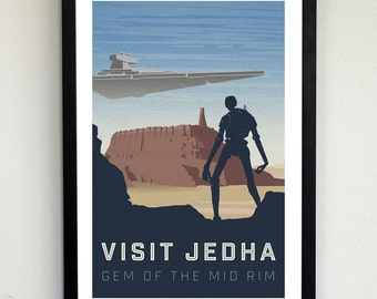 Star Wars Travel Poster - Visit Jedha
