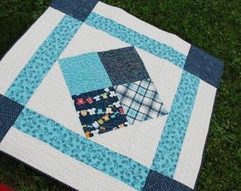 Four Square Fun Toddler Quilt Pattern PDF