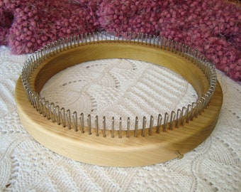 Fine Gauge Hat Knitting Loom - Adult Hat Size - 104  Pegs - Wood -  Cottage Looms