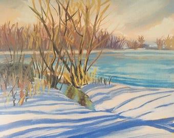 Original Oil Landscape Painting, fine art, impressionist painting