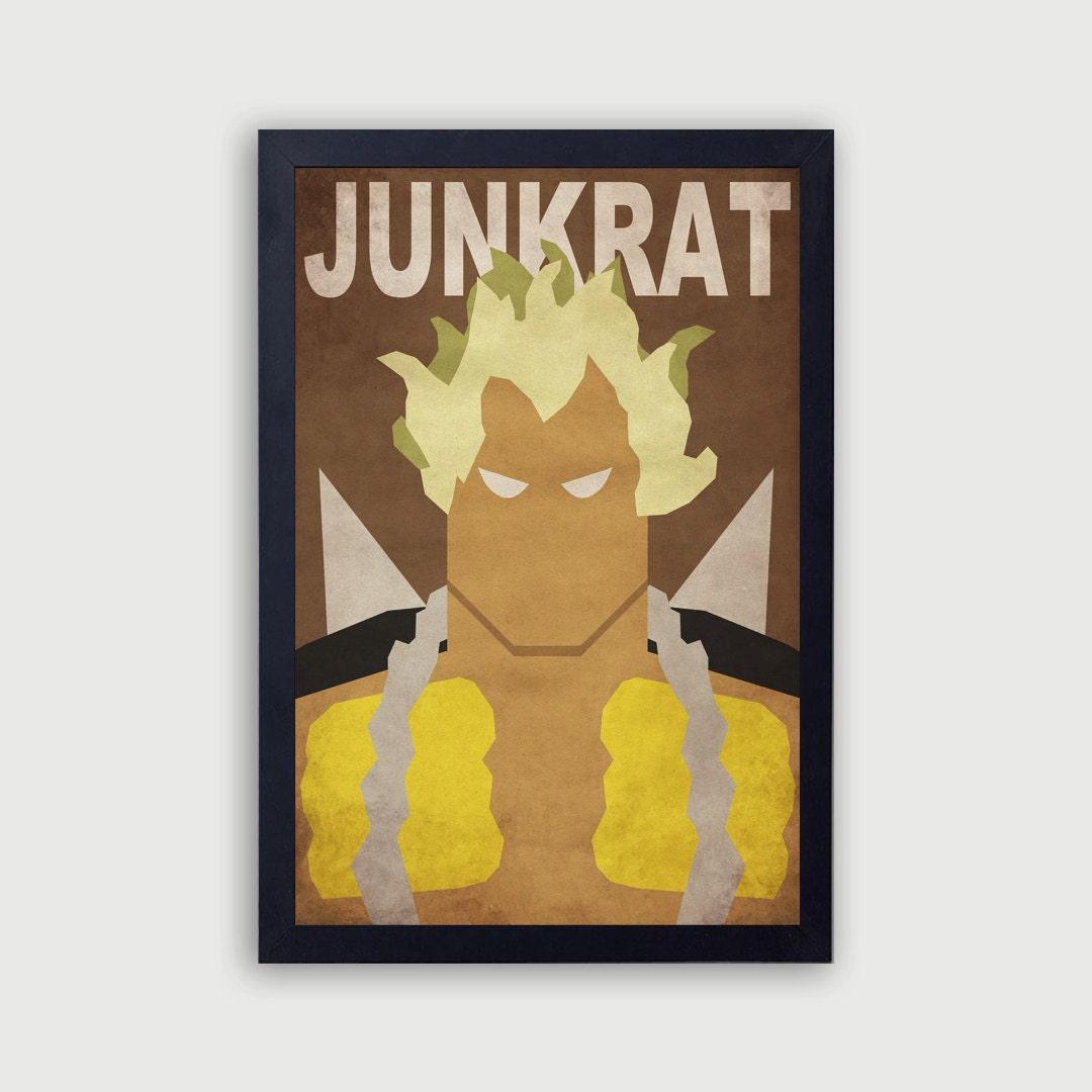 Overwatch Junkrat Poster Junkrat Vector Junkrat Minimalist