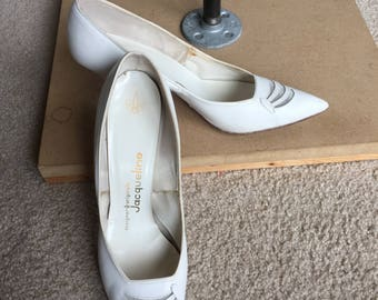 White Leather Pumps 1950