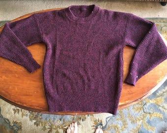 Purple Slouchy Winter Sweater