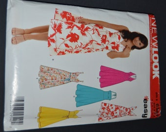 New Look 6557 Halter Sun Dress Sewing Pattern -UNCUT -  Sizes 8 -18