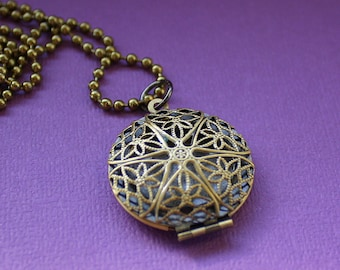 Diffuser Necklace - Scent Jewelry - Perfume Locket