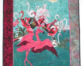 Think Pink  -  Flamingo Wallhanging