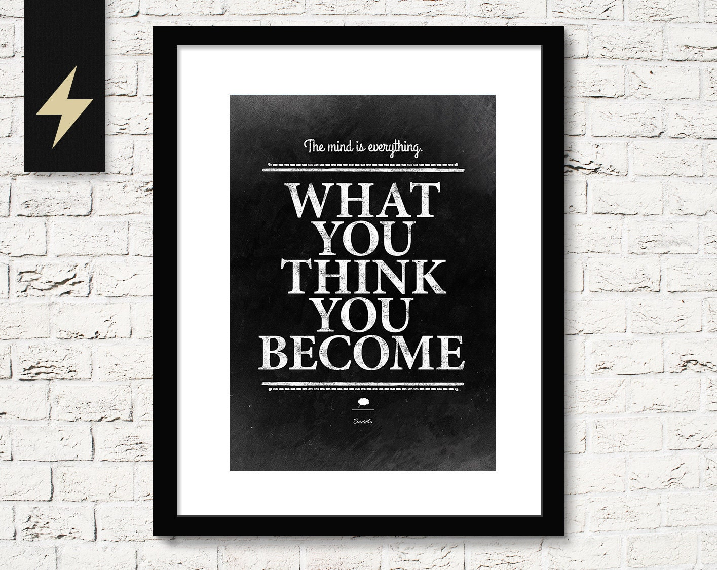 Life Quotes Posters Buddha Quote Print What You Think You Becomeinspiring