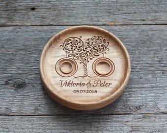 Wedding ring pillow alternative Wedding ring bearer Wedding ring dish Wedding ring plate Wedding Ring holder Tree of Love