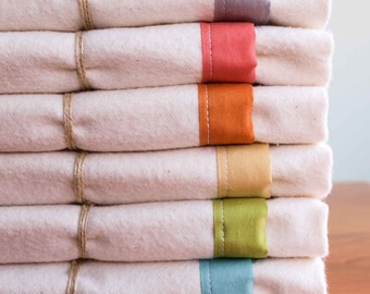 Toddler Flannel Blanket; Custom, Organic Cotton Crib, Toddler Bedding; Natural, Soft, Cozy Blanket for Baby Boy or Girl, Handmade in Canada