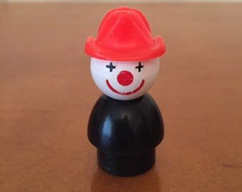 Vintage Fisher-Price Little People Fireman Clown for Crazy Clown Fire Brigade