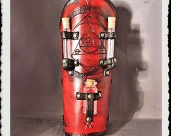 Red leather bracer - Alchemist I
