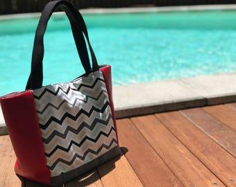 "Handbag ""red and black."
