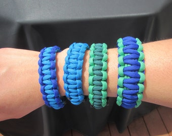 Paracord survial bracelet - 2 color Solomon bar style