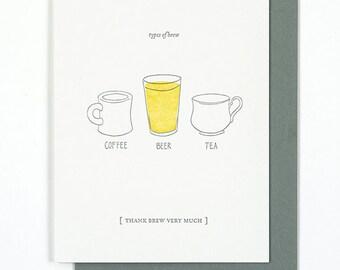 Thank Brew Very Much card
