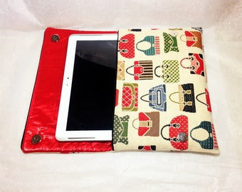 Tablet case, cover computer, flat pocket, pouch fancy red cover