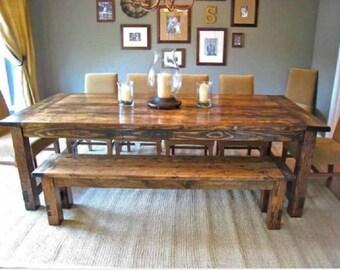 SALE Custom Farmhouse Tables, Farm Tables, Harvest Table