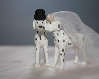 Dalmatian Cake Topper - Small - Dog Cake Topper - Wedding - Dog Bride and Groom - Cute Cake Topper - Adorable - Unique Cake Topper