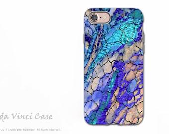 Blue Desert Abstract iPhone 7 / 8 Tough Case - Dual Layer Protection - Desert Memories by Da Vinci Case