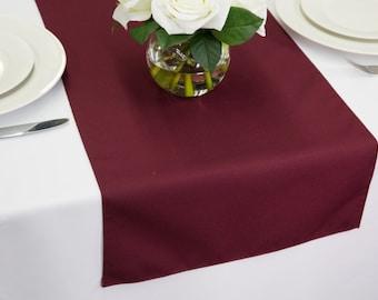 Burgundy Polyester Table Runner | Wedding Table Runners