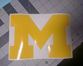 University of Michigan Wolverines 'M' Vinyl Decal