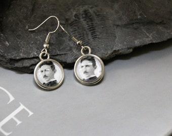Nikola Tesla Earrings - Scientist Jewelry - Celebrating Science