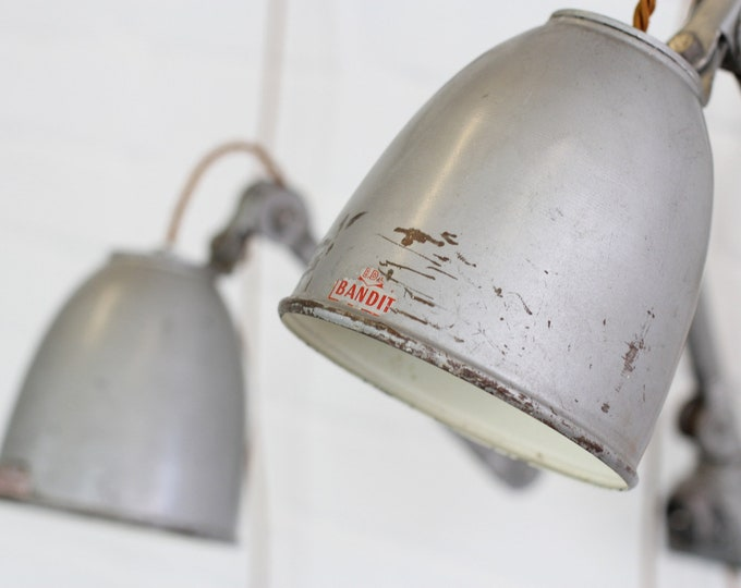 Wall Mounted Industrial Task Lamps By EDL Circa 1950s
