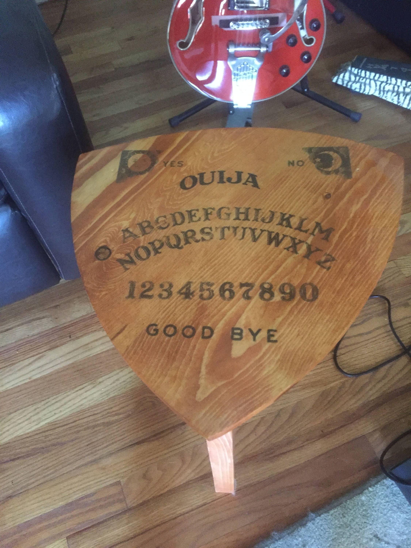 Ouija board guitar pick table reuleaux triangle coffee