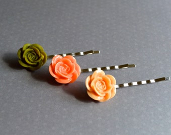 Bobby pin, floral hair accessories, handmade bobby pins, wedding bobby pins, bohemian wedding hair accessories, boho style, gift for her.