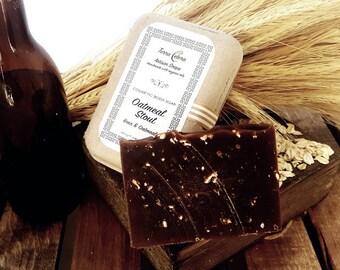 Beer + Oatmeal soap - Oatmeal Stout - 5oz- Organic Oils-Terra Cetera