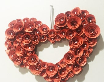 Heart made from 3D Roses