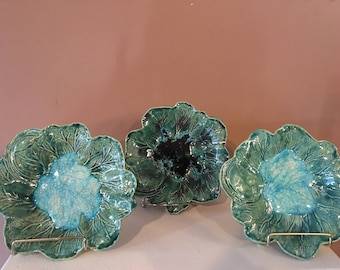 Handmade Cabbage glass filled dish