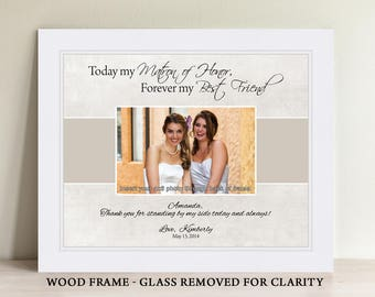 Maid of Honor Gift, Matron of Honor Gift, Bridesmaid Gift, Personalized Maid of Honor Picture Frame