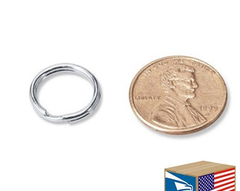 Keyring etsy sg 25 lot split key rings 12mm 12 05 keyrings keychain key chain solutioingenieria Image collections