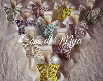 Colored Ceramic Butterflies