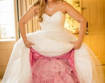 Coral Crinoline - Coral Tulle Skirt - Plus Sizes Available - Aline Crinoline, Extra Full Crinoline, Mermaid Crinoline