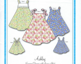 Bonnie Blue Pattern #134 / ASHLEY / Sizes 2 yr - 10 yr