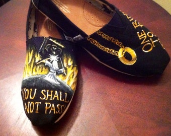 Hand Painted Lord of the Rings / Hobbit Shoes
